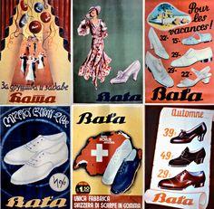 Miscellaneous vintage Bata Ads