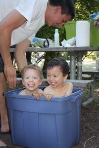 Toddler camping bathtub!
