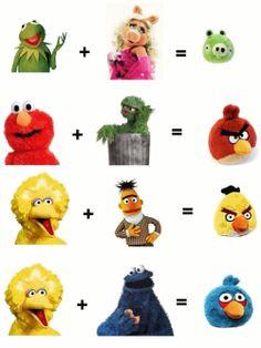 Angry Birds!  Haha