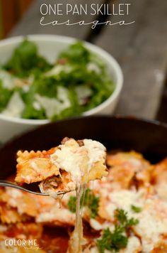"easy one pan skillet ""lasagna"" | colormemeg.com"