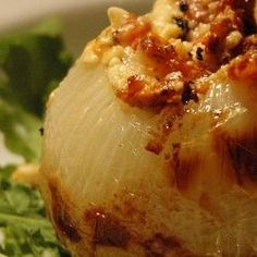 Grilled Stuffed Onion. Ive made these in the oven and they are sooo good!!!