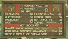 Mcdonald's prices in the 70's
