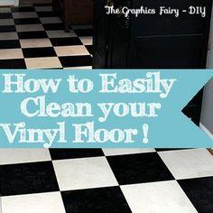 How to Easily Clean Grimy Vinyl Floors!