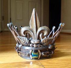 Scrap metal crown made by Birmingham metal artist Catherine Partain.  Find me on Facebook! Crosses by Catherine