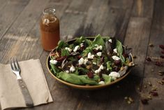 autumn salad with apple cider vinaigrette