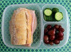 Baguette sandwich packed for a quick and  easy lunch! | with @EasyLunchboxes containers