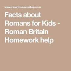 romans facts homework help