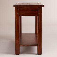 Madera console table world market narrow kitchen island idea - Narrow kitchen island table ...