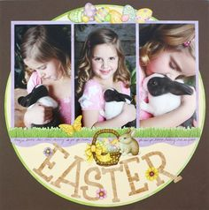 Cute Easter Scrapbook page using Creative Memories Glory of Easter Additions #scrapbooking.