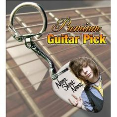 Never Shout Never Premium Guitar Pick Keyring