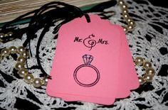 Mr. & Mrs. Gift Tags  Wedding Bridal Shower Hand by Booksonblocks, $3.95