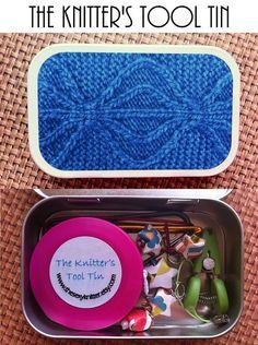 Knitters tool tin - always useful.