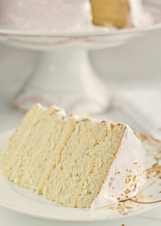 Almond Cake With Vanilla Buttercream Frosting and Glitter