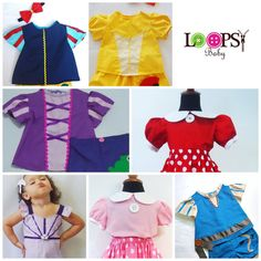 Princess Top  - Girls Costume #SnowWhite #MinnieMouse #Belle #Merida #Rapunzel #ariel #loopsybaby