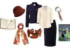 Nancy Drew costume. Might do this for Halloween!