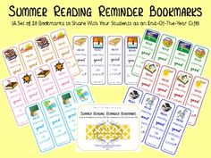 28 Summer Reading Reminder Bookmarks
