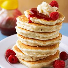 Our fluffy Lemon Souffle Pancakes are sure to go over well! More simple and delicious pancake recipes: http://www.bhg.com/recipes/breakfast/brunch/pancakes-and-toppings/?socsrc=bhgpin041513lemonpancakes=13