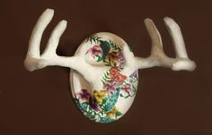 Hey, I found this really awesome Etsy listing at https://www.etsy.com/listing/184428101/whimsical-floral-mounted-deer-antlers