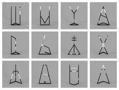 TYPOGRAPHIC SCULPTURES BY FABRICE LE NEZET