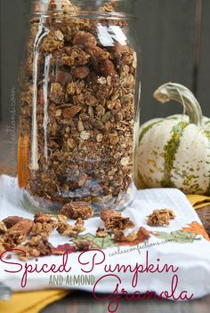 Spiced Pumpkin and Almond Granola from www.carlasconfections.com #pumpkin #granola
