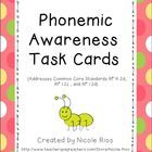 Free through Sunday, June 9th, 2013!  These cards were designed to provide direct intervention to students who are struggling with phonemic awarene...