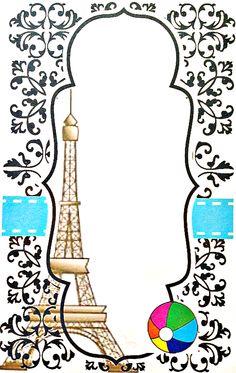 Blank Printable Parisian Pool Party Invitation - Free Printable @ Fresh Idea Studio.com