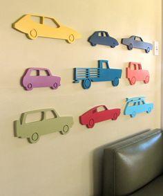 Modern car wood sign, Car silhouette, Vintage car, Boys room wall, Boys décor, Nursery wall, choose your color