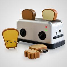 USB Toast Flash Drives from Firebox.com butta, crisp, ry ry, tato 8gb £12.99 toaster hub £17.99