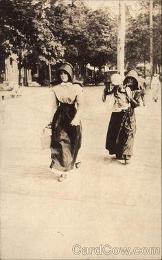 Amish Women Walking