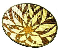 A South African basket woven by  Ilala Weavers