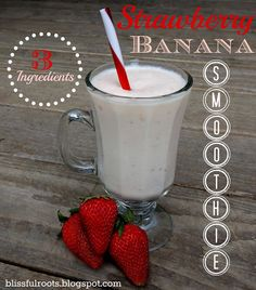 strawberry banana smoothie #smoothies