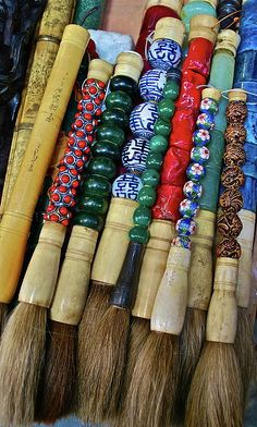 Chinese paint brushes.