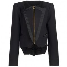 Juicy Couture Girls Black Cotton Tuxedo Blazer at Childrensalon.com