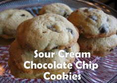 Sour Cream Chocolate Chip Cookies!