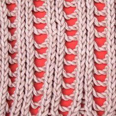 Right side of knitting stitch pattern – Lace 4