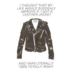 leatherjacket, fashion, life, style, funni, true, leather jackets, quot, thing