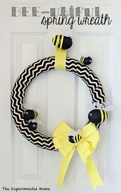 For your family of busy bees? #BabyCenterBlog busi bee, spring wreaths