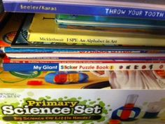 Little Bro's Science kit and various other materials used with Little Bro...
