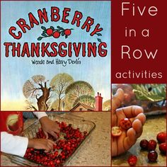 Cranberry Thanksgiving Activities (plus how to make a silhouette picture!)