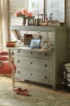 Bruges Secretary - Writing Desk, Bureau Vanity, Bureau Desk | Soft Surroundings