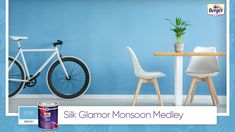 What if you could capture the magnificence and tranquillity of blue skies on your walls? Choose from our #SilkGlamor catalogue varied hues of blue and complement them with cheerful furniture to brighten up your space! Share your monsoon home décor ideas with us using #SilkGlamorMonsoonMedley. #BergerPaints #PaintYourImagination