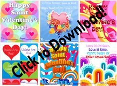Printable Valentines for Catholic children. (They're free!)