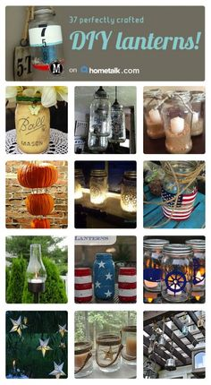37 easy DIY lanterns--these would look great on your front porch or backyard!