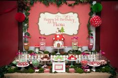 #woodland #birthday #party #decorations #Mushroom #cake #idea #planning (15)