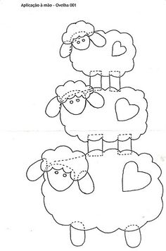Appliqué sheep