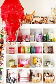 Craft cupboard organisation