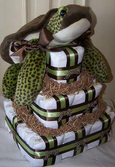 turtle diaper cake.... cute