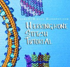Uzumes Crafty Goodness: Herringbone Stitch Tutorial, using Ladder Start.