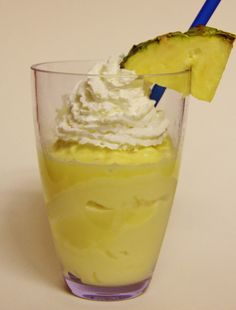 Pineapple Dole Whip...just like you get at Disneyland or Disneyworld!  Made with fresh pineapple (not the canned stuff)