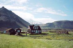 Homestead in Arnastapi, Iceland.